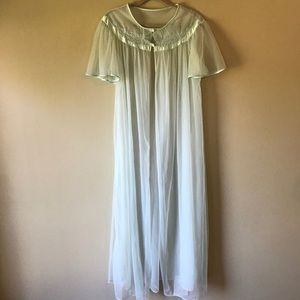 Vintage Val Mode Floor Length Sheer Robe Nightgown